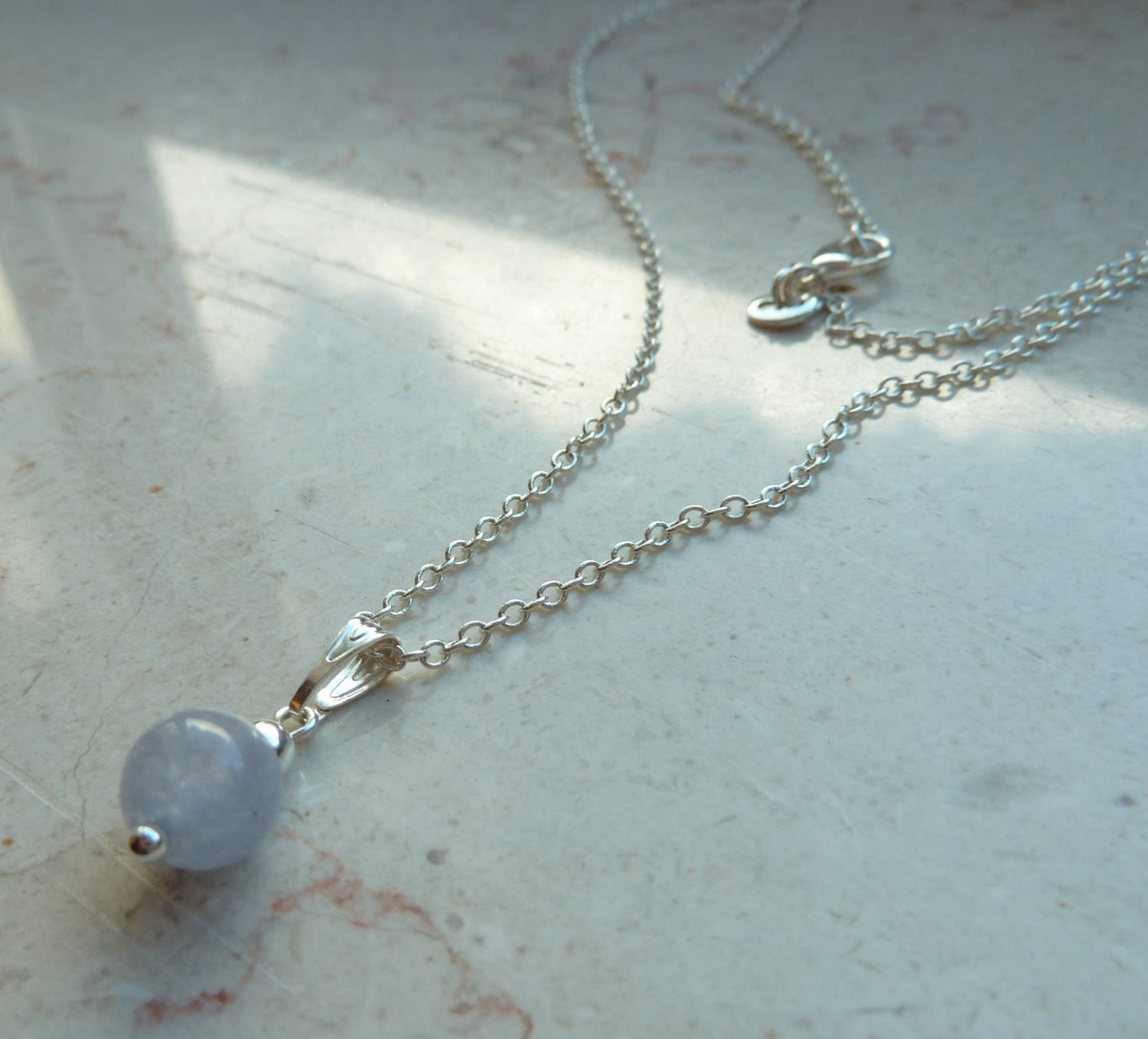 Womens Aquamarine necklace, silver stone necklace, tiny minimalist pendant necklace
