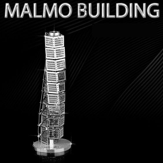 Malmo tower building metal model Kit craft 3D Puzzle DIY toy boys mens gift | Healing stone Handmade Jewelry by AnuanA Craft