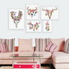 Modern Deer Art Print Poster Wall decor head skull Canvas picture