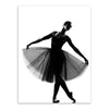 Wall decor Black White Ballet Dancer minimalist art print poster canvas picture