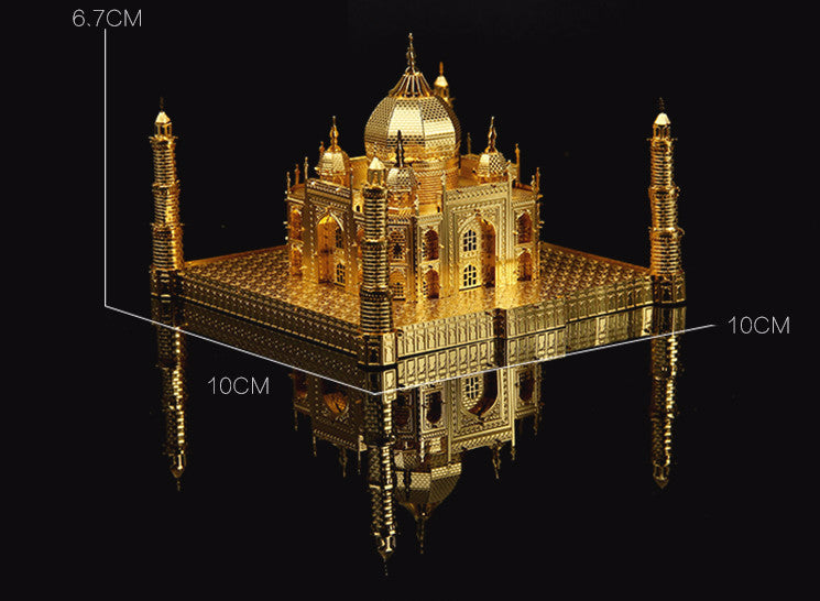 3D Metal model building kit Taj Mahal Puzzles architecture assembly DIY craft gifts | Healing stone Handmade Jewelry by AnuanA Craft