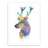 Modern print poster Deer Head canvas picture Living Room Wall decor | Healing stone Handmade Jewelry by AnuanA Craft