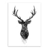Modern print poster Deer Head canvas picture Living Room Wall decor