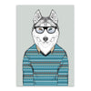 Modern Dog Art Print poster canvas picture Wall decor room home fashion