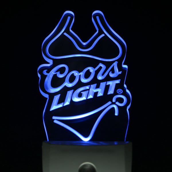 Coors Light home Bar Pub Led night light lamp Day/ Night Sensor beer mens gift | Healing stone Handmade Jewelry by AnuanA Craft