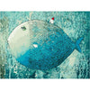 Painting by numbers Blue Fish DIY home craft FULL kit canvas colors & brushes