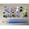 Flowers picture painting Kit craft acrylic canvas home artist coloring DIY gift | Healing stone Handmade Jewelry by AnuanA Craft