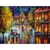 Painting Kit Rainy City Painting By Numbers Acrylic Canvas Painting Gift DIY