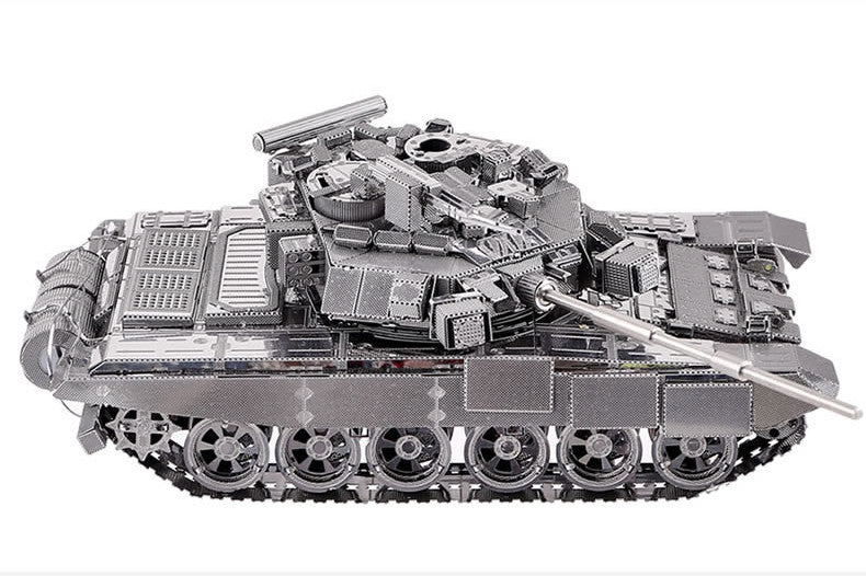 3D Metal model kit building toy T90 Tank Military collection 3D Puzzles boys | Healing stone Handmade Jewelry by AnuanA Craft
