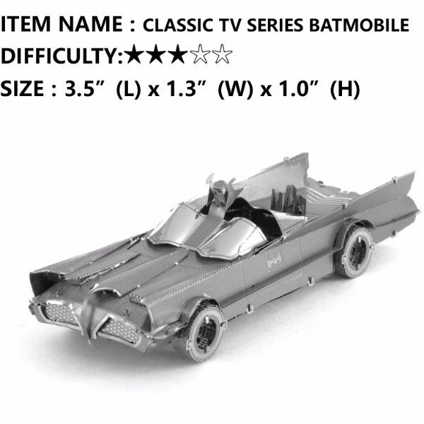 Batman 3D metal puzzle Batmobile model building craft toy boys mens family gift | Healing stone Handmade Jewelry by AnuanA Craft