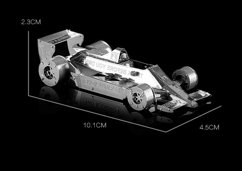 metal model building Kit Formula 1 racing car craft 3D Puzzle DIY toy gift | Healing stone Handmade Jewelry by AnuanA Craft