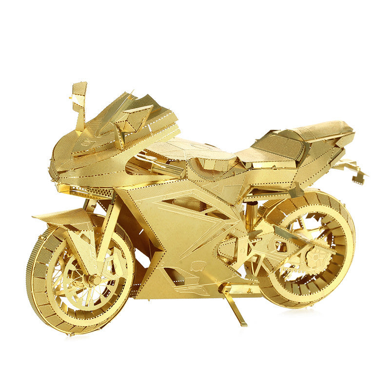 3D Metal model kit DIY toy Motorcycle vehicles brass 3D puzzle boys mens gift | Healing stone Handmade Jewelry by AnuanA Craft