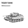Model Building Germany Tiger Tank Military collection metal 3D puzzle silver