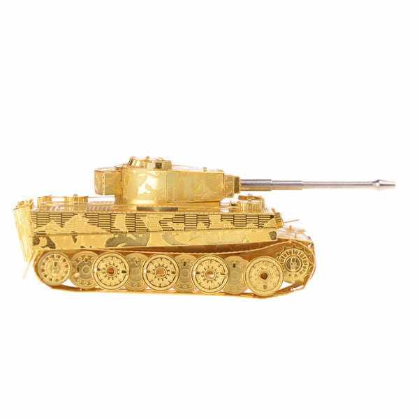 Model Building Germany Tiger Tank Military collection mini brass 3D puzzle gold