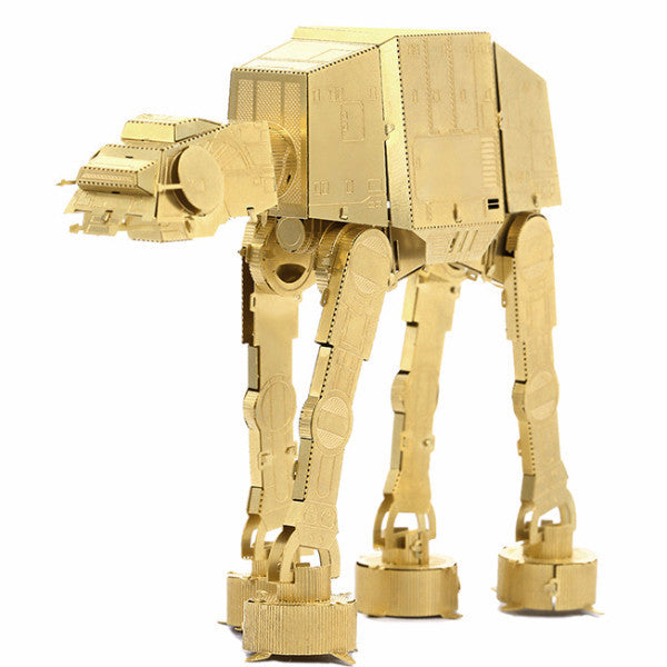 AT-AT model building toy Star wars 3D puzzle DIY kit boys mens gift metal gold | Healing stone Handmade Jewelry by AnuanA Craft