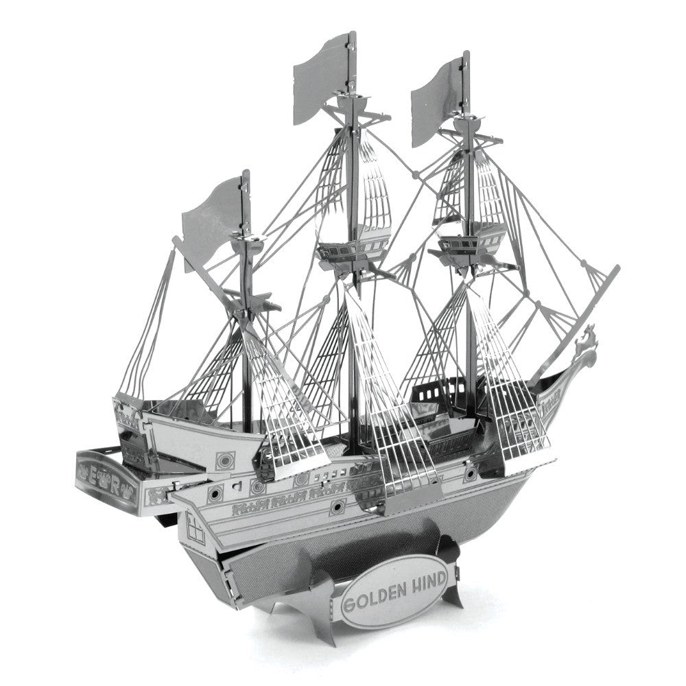 GOLDEN HIND metal model building kit ship 3D puzzle assembly DIY craft gift | Healing stone Handmade Jewelry by AnuanA Craft