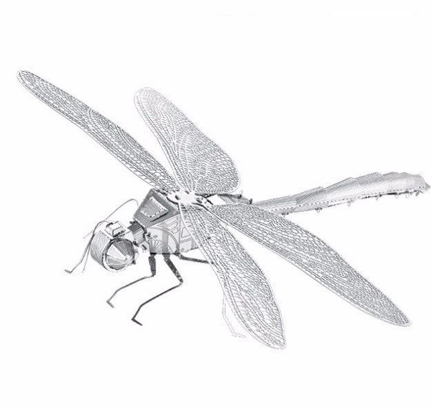 DRAGONFLY 3D stainless steel Model building bugs assembly toy DIY craft gift