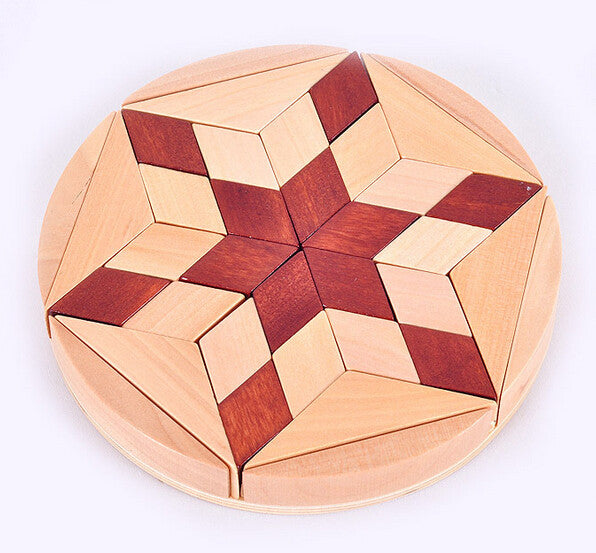 Kids creative brain teaser game Wood IQ Puzzle Challenge board Puzzle | Healing stone Handmade Jewelry by AnuanA Craft