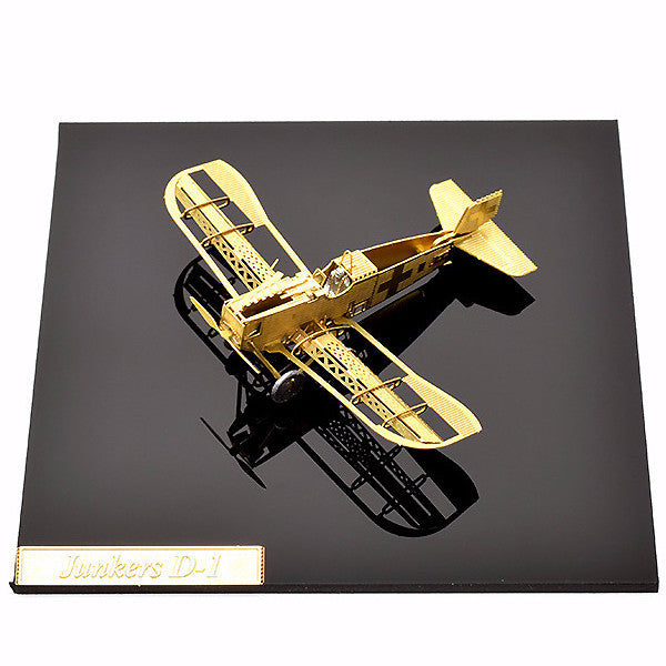 Junkers D-1 Metal model building kit aircraft 3D puzzle Brass DIY 1/160 gold | Healing stone Handmade Jewelry by AnuanA Craft