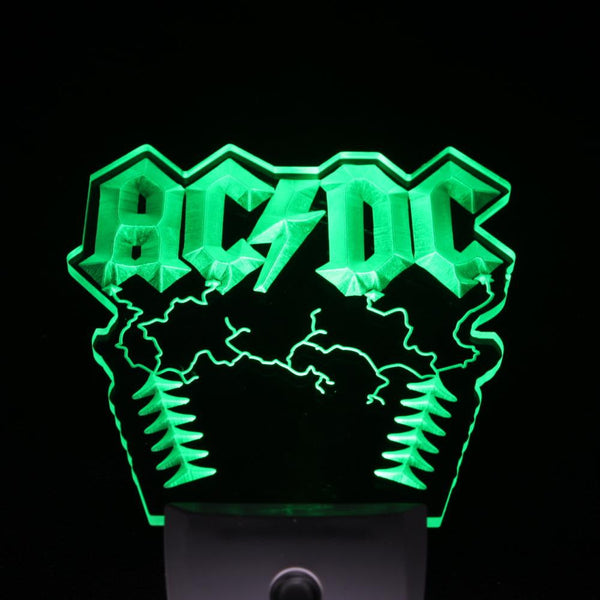 ACDC LED night light wall decor Rock fans light sensor music gift | Healing stone Handmade Jewelry by AnuanA Craft