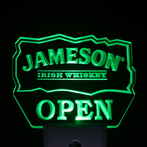 Home bar pub LED decor Jameson light sensor wall plug in mens gift | Healing stone Handmade Jewelry by AnuanA Craft