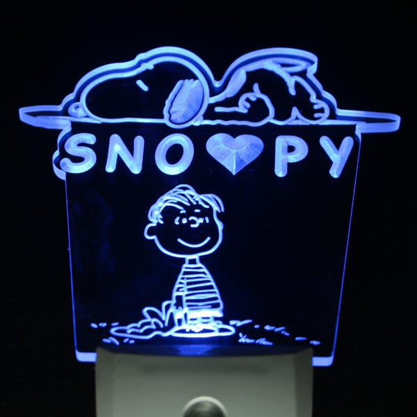 Snoopy night light kids bedroom light sensor Cartoons decor kids gift | Healing stone Handmade Jewelry by AnuanA Craft