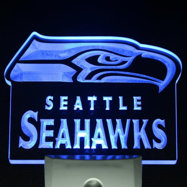 Football LED light plug in Seattle Seahawks home Bar Pub light sensor | Healing stone Handmade Jewelry by AnuanA Craft