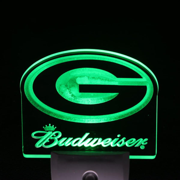 football night light Green Bay Packers Budweiser wall decor light plug in | Healing stone Handmade Jewelry by AnuanA Craft
