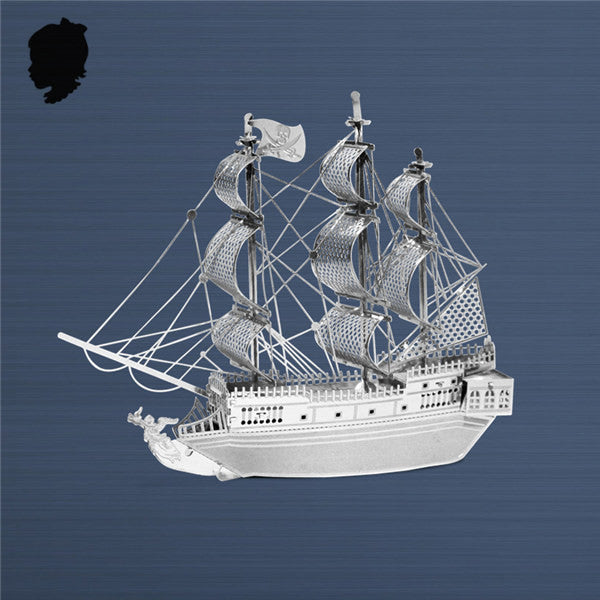 Metal model building kit Black Pearl 3D Puzzles Pirates ship craft gift