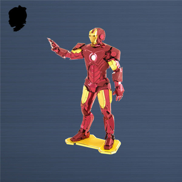 Iron man 3D craft kit metal model assembly mens boys puzzle gift | Healing stone Handmade Jewelry by AnuanA Craft