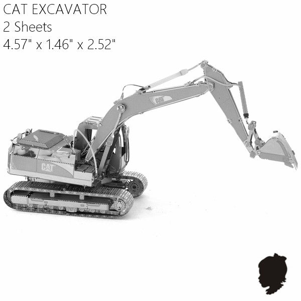 CAT excavator metal model building kit truck Vehicle 3D puzzle | Healing stone Handmade Jewelry by AnuanA Craft