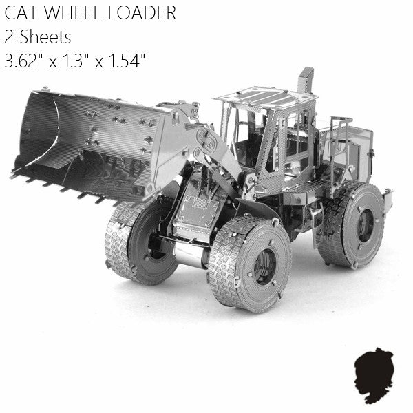 CAT wheel loader metal model building kit truck Vehicle 3D puzzle | Healing stone Handmade Jewelry by AnuanA Craft