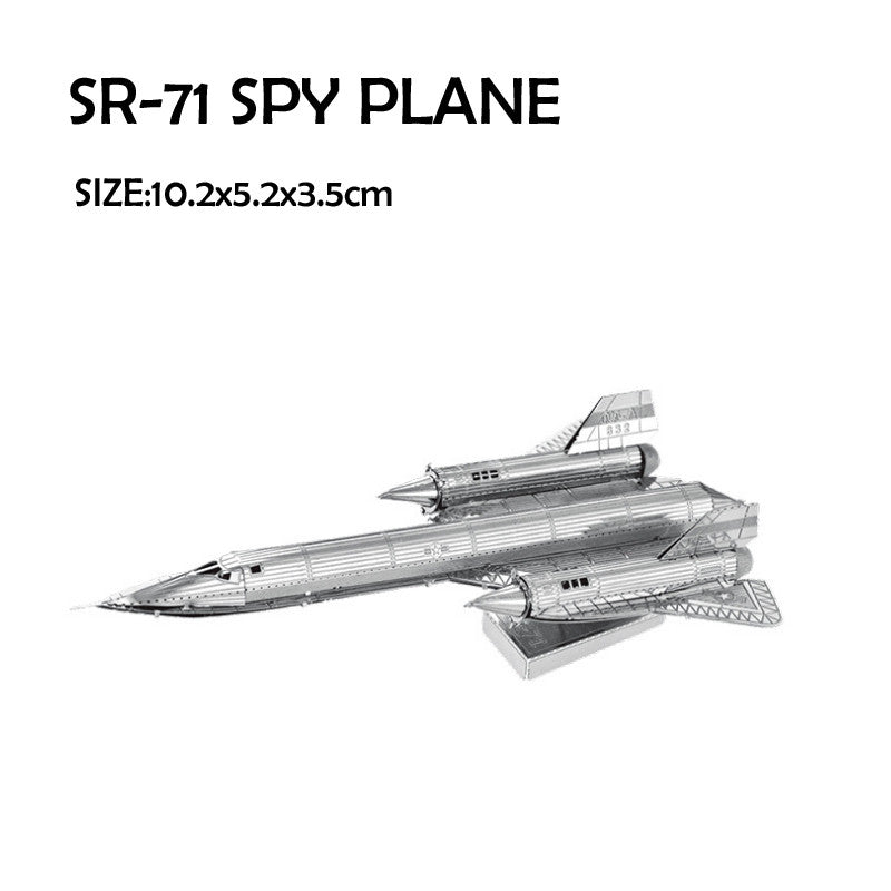 Aircraft DIY kit metal Model assembly military SR71 Spy plane craft building KIT | Healing stone Handmade Jewelry by AnuanA Craft