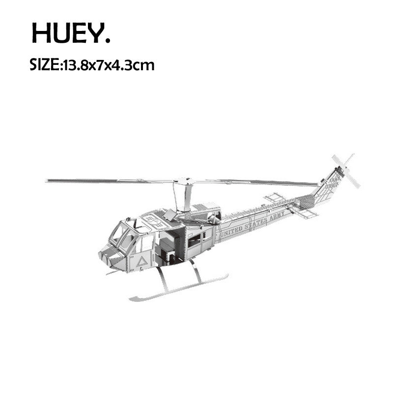Aircraft DIY kit metal Model assembly HUEY helicopter craft building KIT | Healing stone Handmade Jewelry by AnuanA Craft