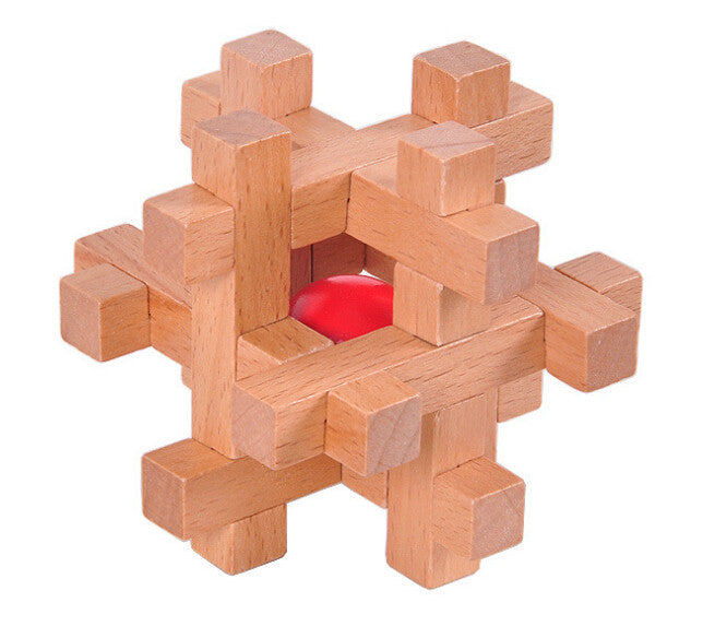 Traditional IQ Puzzle Wood hexagonal Challenge game Adults Kids Teens geek gift