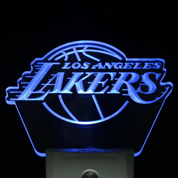 Lakers LED night light Basketball home Bar man cave light Sensor mens gift | Healing stone Handmade Jewelry by AnuanA Craft