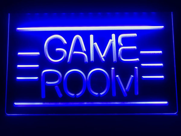 Game Room lit sign Home media room LED light sign Man cave decor | Healing stone Handmade Jewelry by AnuanA Craft