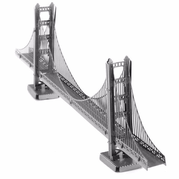 Metal model building kit Golden Gate Bridge Famous buildings DIY 3D Puzzles | Healing stone Handmade Jewelry by AnuanA Craft