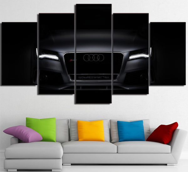 Man cave Garage canvas poster Black Luxury Car picture 5pcs | Healing stone Handmade Jewelry by AnuanA Craft