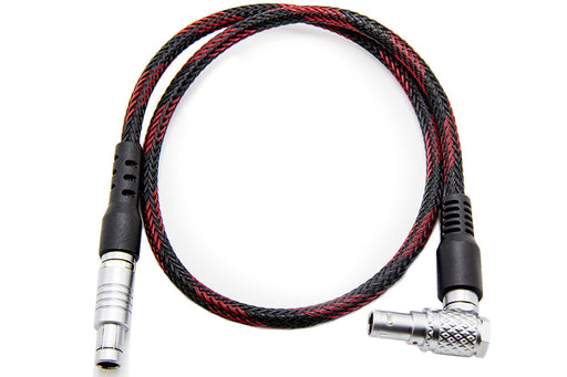 "3-pin to 2-pin Power Cable - 20"", straight to right"