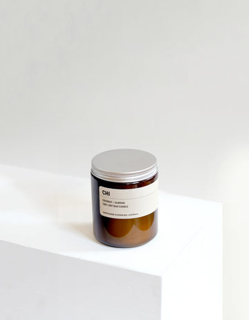 CHI: Coconut / Almond Small Amber Candle 250g