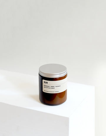 SUR: Cedarwood / Amber / Patchouli Small Amber Candle 250g