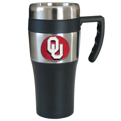 Oklahoma Sooners Travel Mug w/Handle