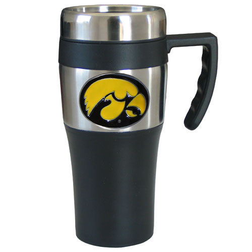 Iowa Hawkeyes Travel Mug w/Handle