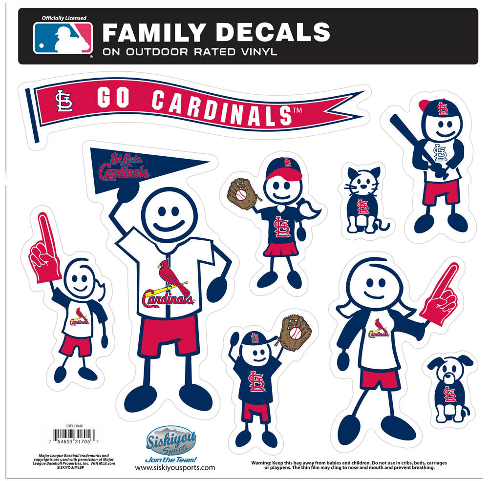 St. Louis Cardinals Family Decal Set Large