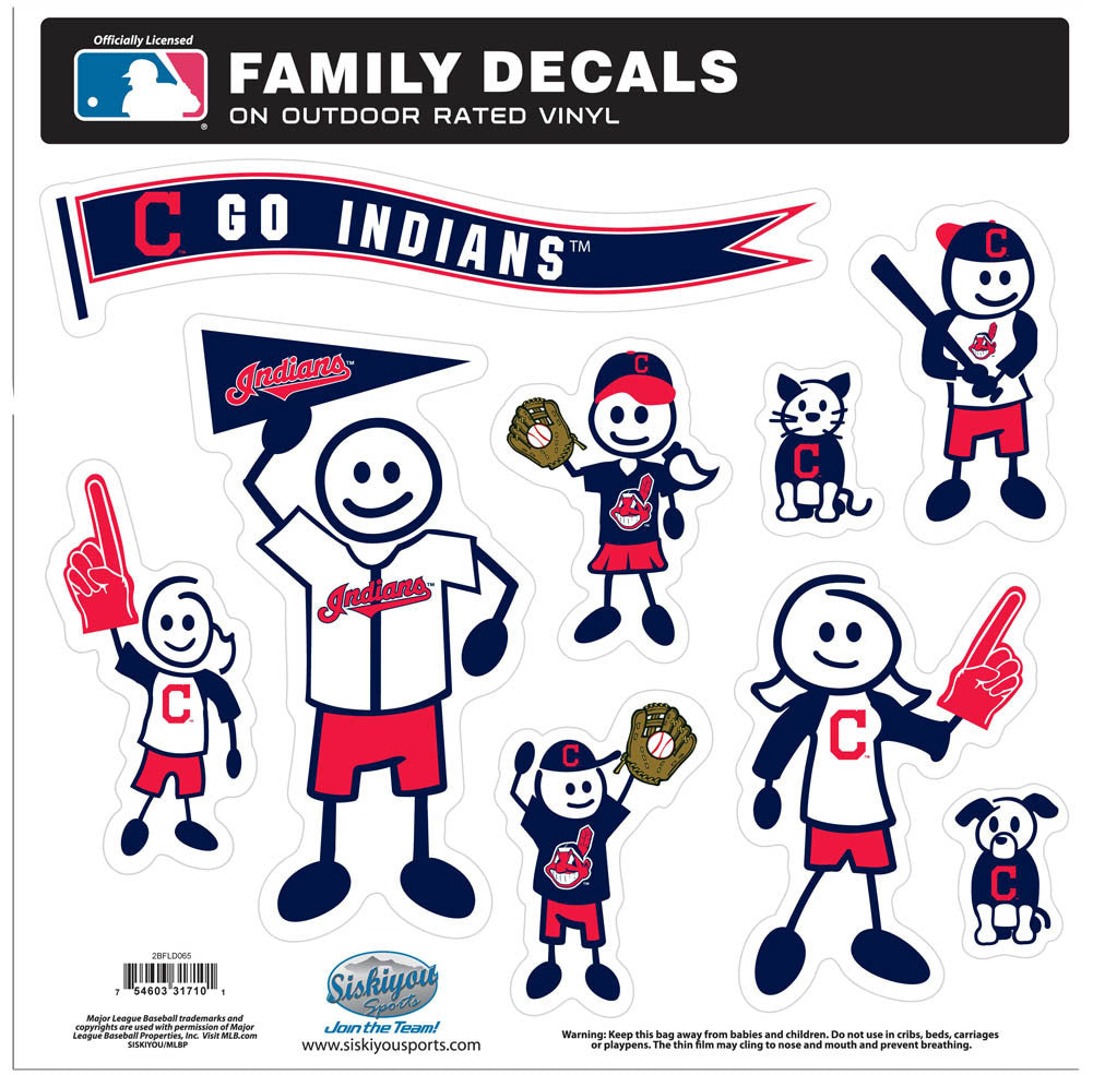 Cleveland Indians Family Decal Set Large