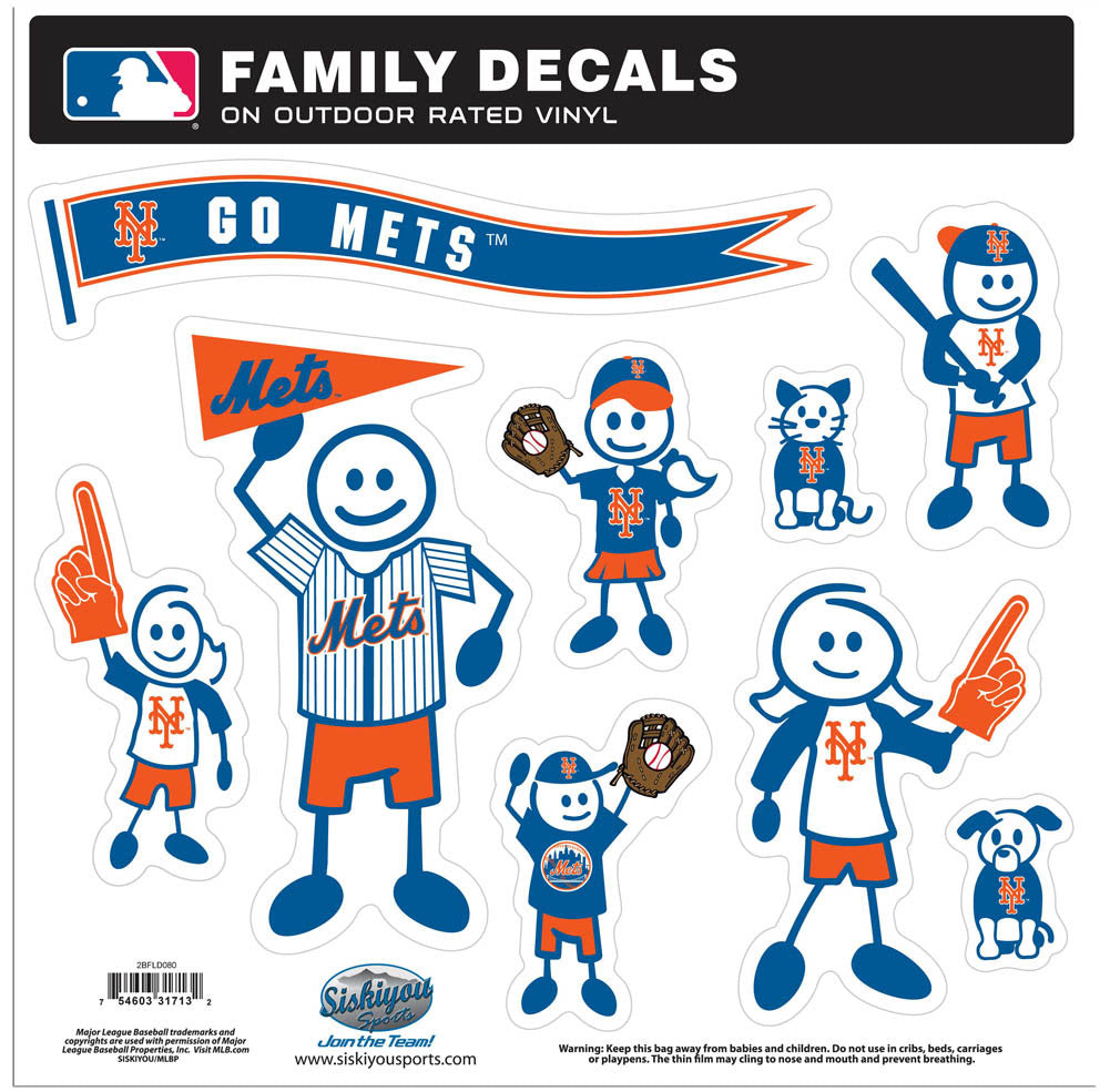 New York Mets Family Decal Set Large