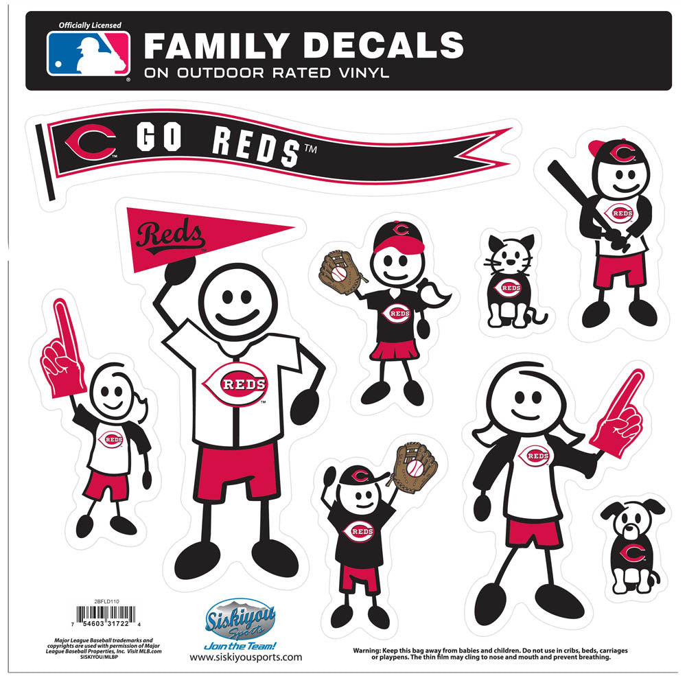 Cincinnati Reds Family Decal Set Large