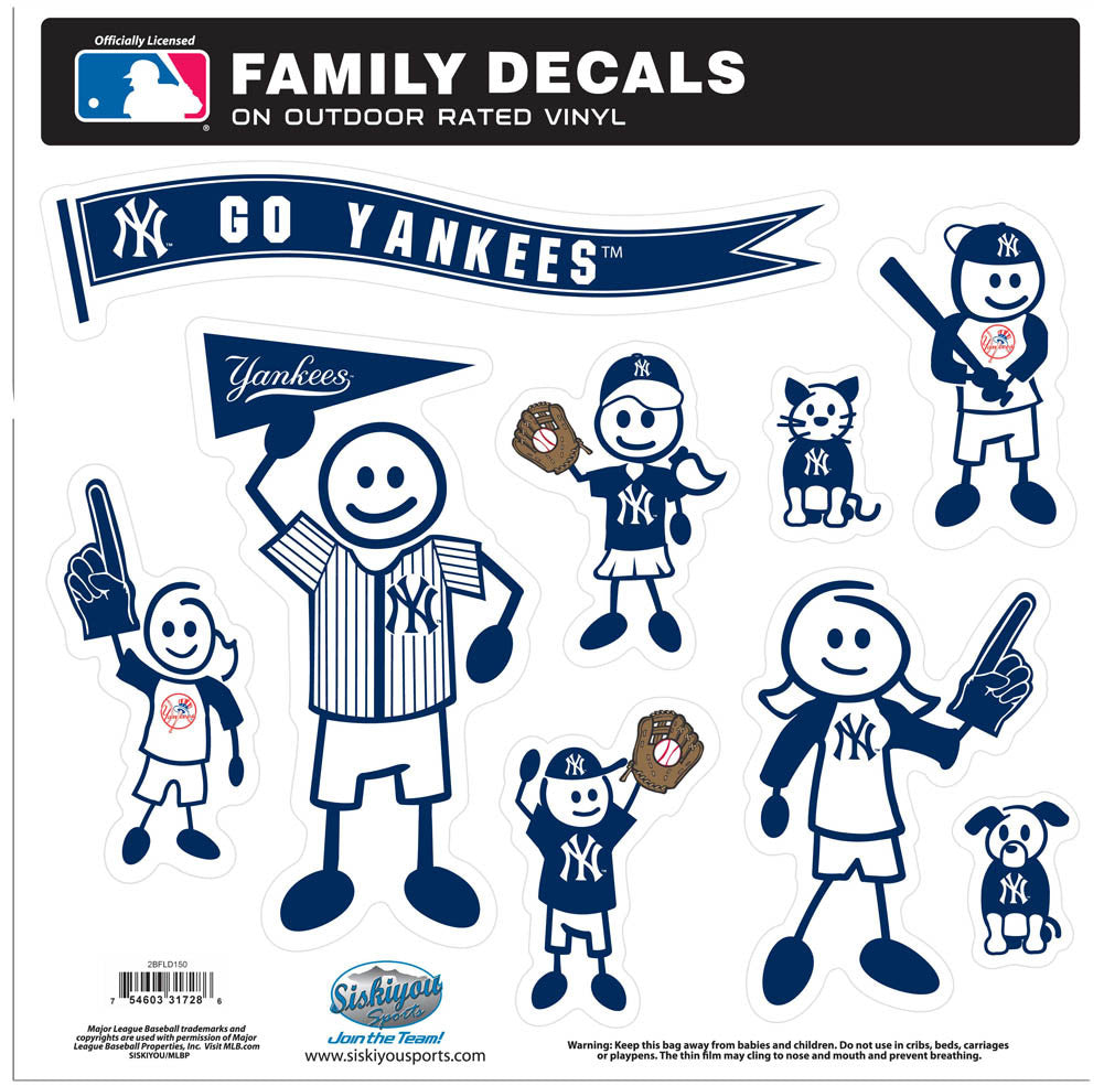 New York Yankees Family Decal Set Large