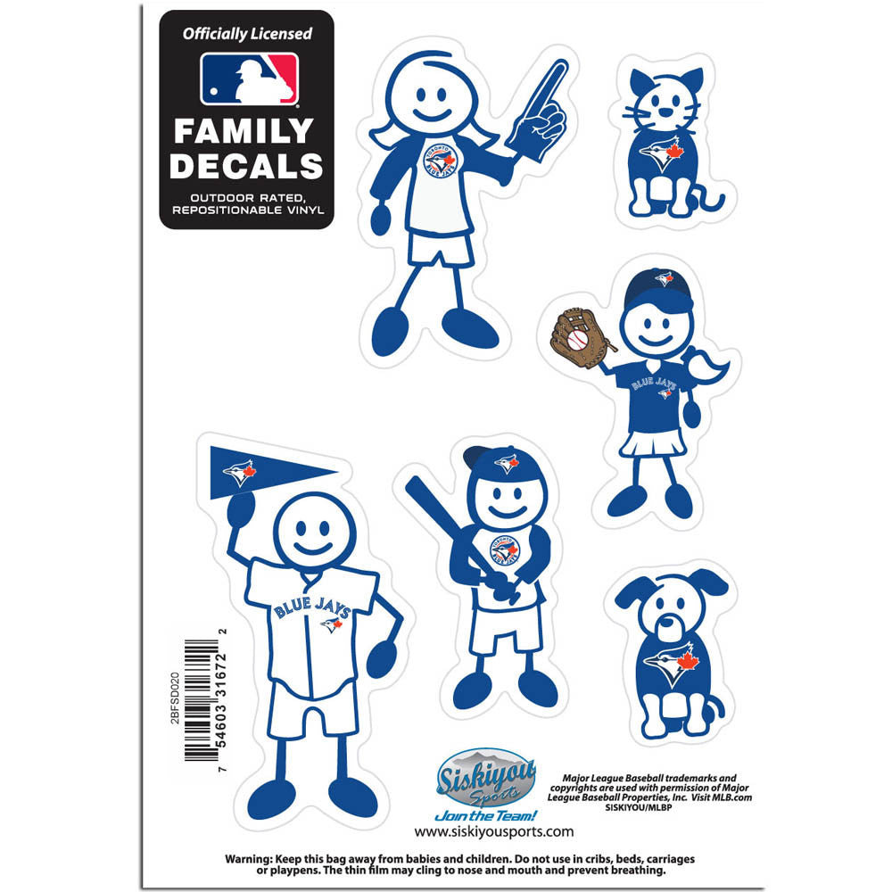 Toronto Blue Jays Family Decal Set Small